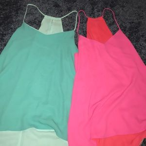 two reversible tank tops!